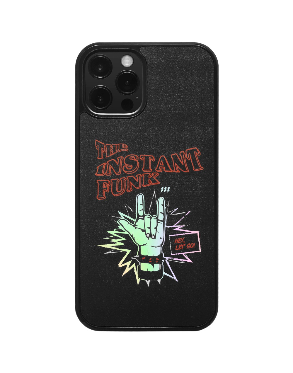 Funk graphic hologram case - Black